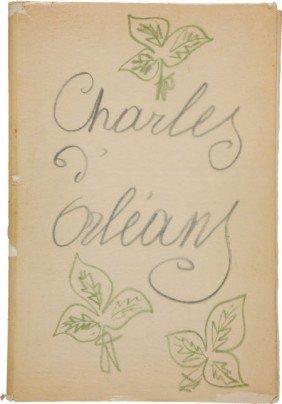 36053: Henri Matisse. Poemes de Charles d'Orleans, manu