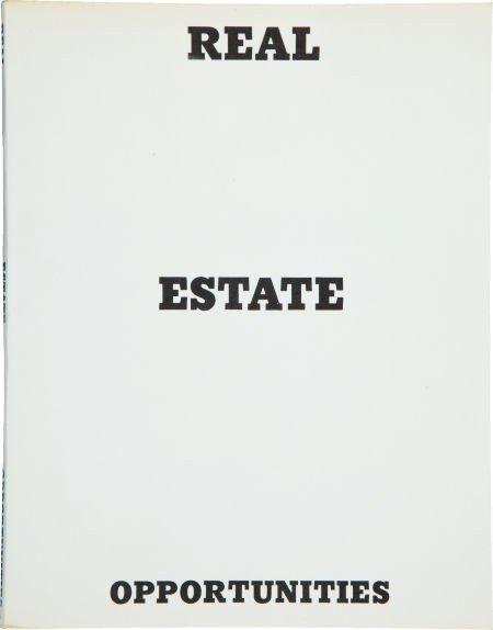36055: Edward Ruscha. Real Estate Opportunities. [Calif
