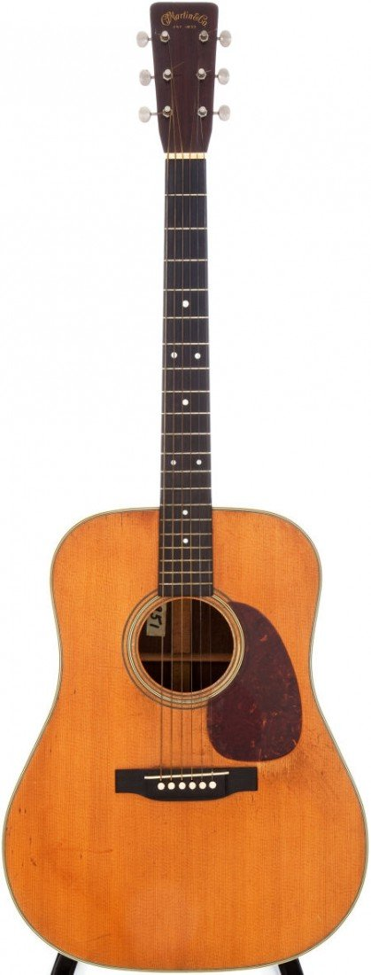 54001: 1952 Martin D-28 Natural Acoustic Guitar, Serial