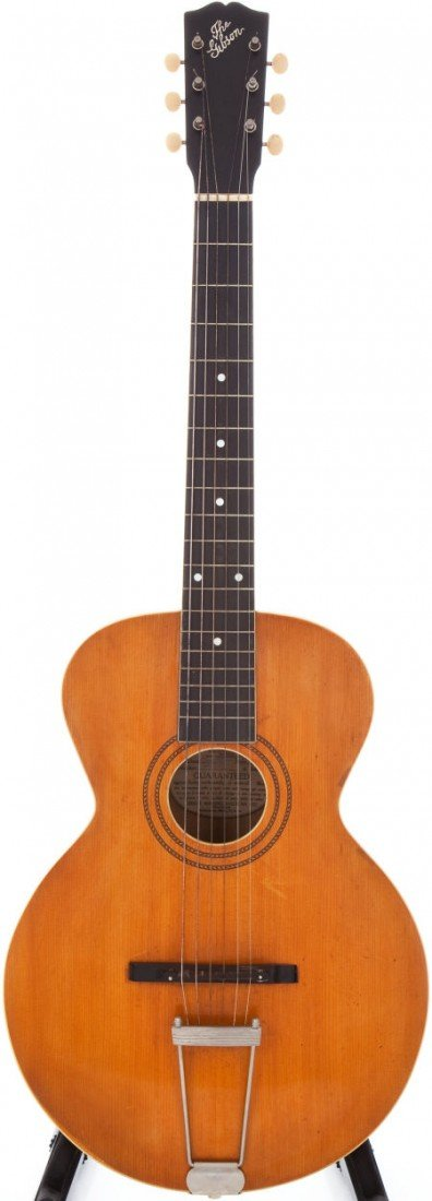 54002: 1918 Gibson L-1 Natural Acoustic Guitar, Serial