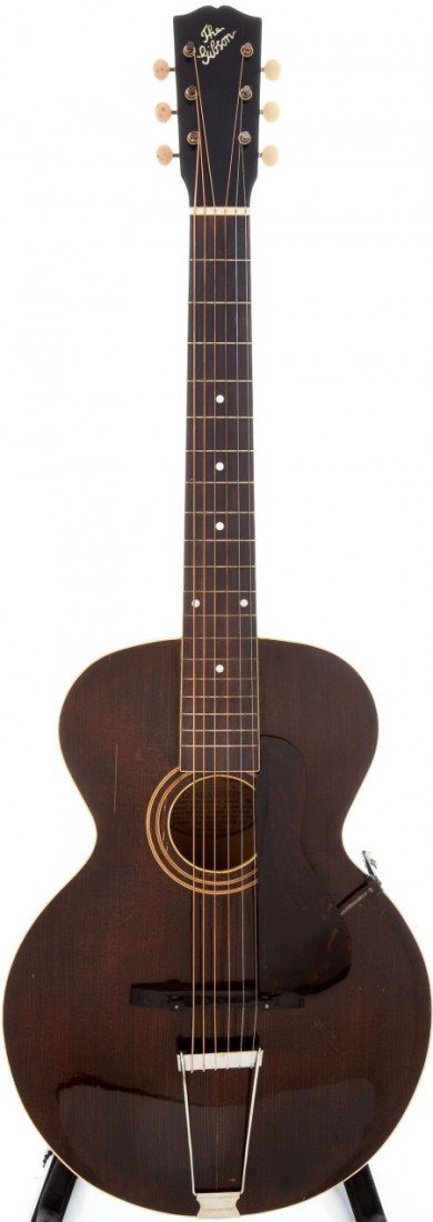 54005: 1922 Gibson L-1 Brown Acoustic Archtop Guitar, S