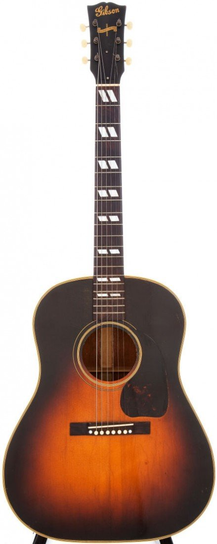 54020: 1945 Gibson Banner Model SJ Sunburst Acoustic Gu