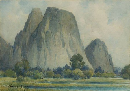 87007: PERCY GRAY (American, 1869-1952) Cathedral Spire