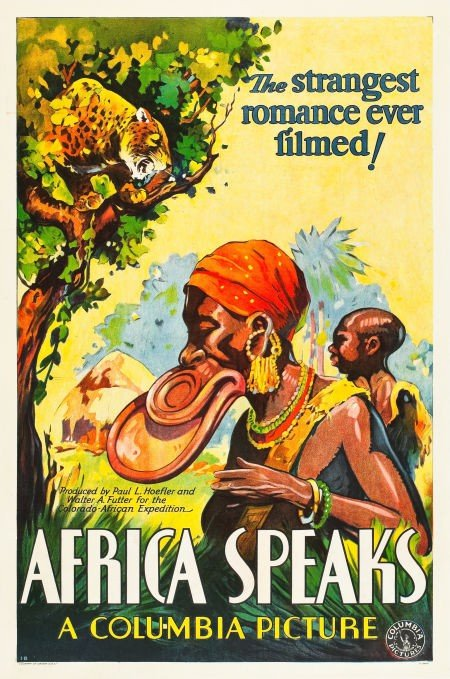 83001: Africa Speaks! (Columbia, 1930). One Sheet (27""