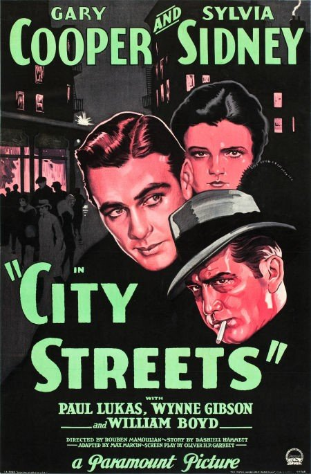 83004: City Streets (Paramount, 1931). One Sheet (26 X