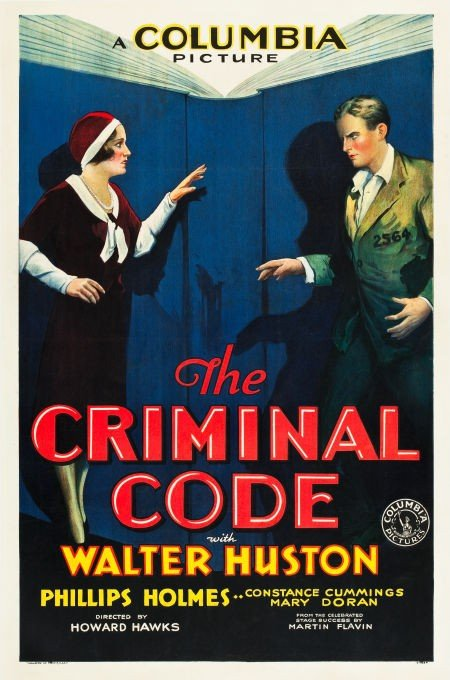 83006: The Criminal Code (Columbia, 1931). One Sheet (2