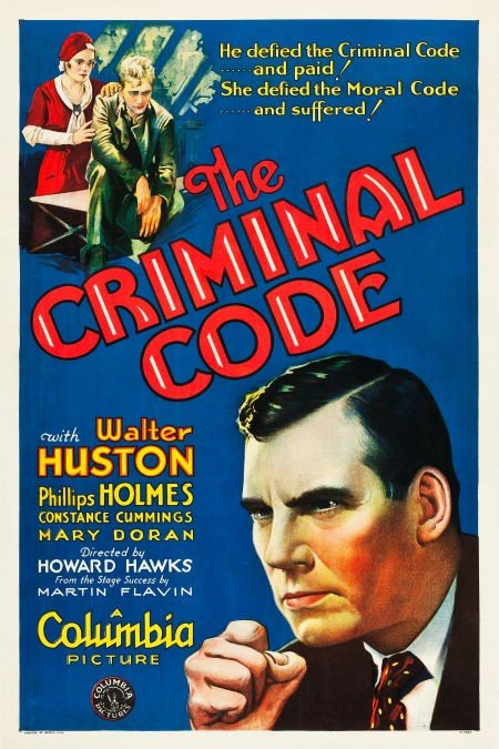 83007: The Criminal Code (Columbia, 1931). One Sheet (2