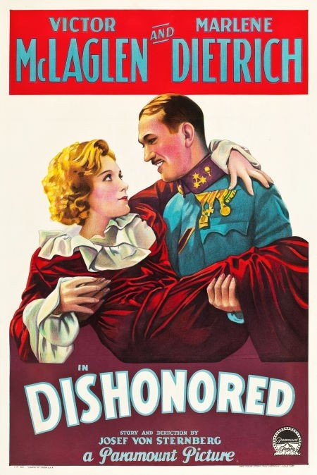 "83009: Dishonored (Paramount, 1931). One Sheet (27"" X 4"
