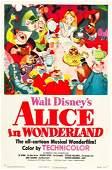 "83195: Alice in Wonderland (RKO, 1951). One Sheet (27"""