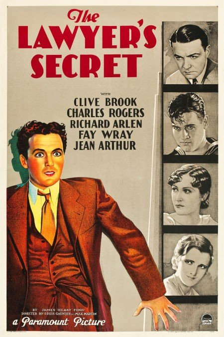 83019: The Lawyer's Secret (Paramount, 1931). One Sheet