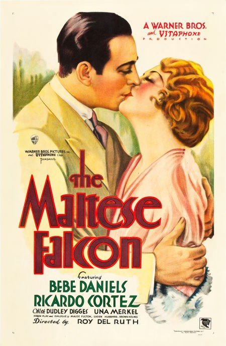 83021: The Maltese Falcon (Warner Brothers, 1931). One