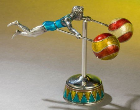 68007: A TWO PART TIFFANY & CO. SILVER AND ENAMEL CIRCU