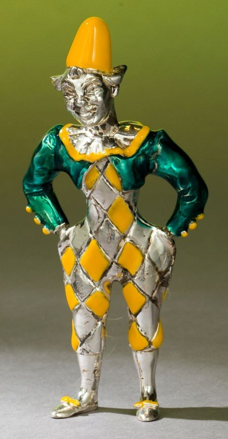 68015: A TIFFANY & CO. SILVER AND ENAMEL CIRCUS CLOWN D