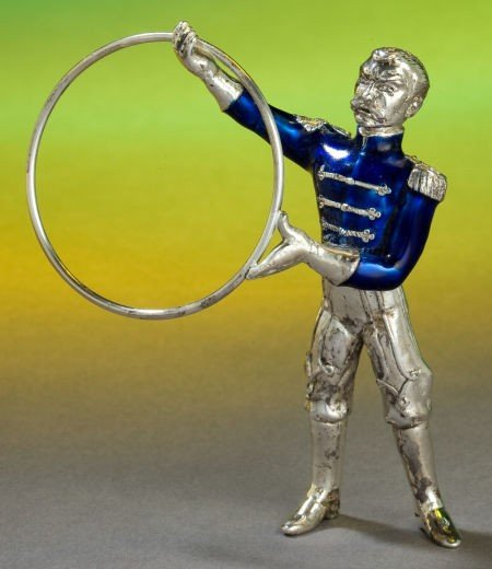 68019: A TIFFANY & CO. SILVER AND ENAMEL CIRCUS ANIMAL