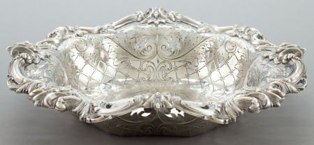 68309: A FRANK W. SMITH RETICULATED SILVER BOWL  Frank