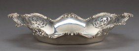 A SHREVE SILVER RETICULATED SERVING DISH  Shreve