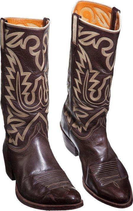 4e530c1d43a 46025: A John Wayne Pair of Lucchese Cowboy Boots, 1970