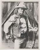46031 A John Wayne Signed Black and White Photograph