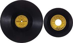 46259: Roy Orbison and Carl Perkins Autographed Records