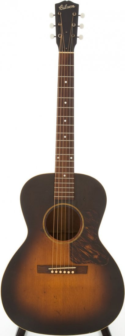 54006: Late 1930s Gibson L-0 Sunburst Acoustic Guitar,