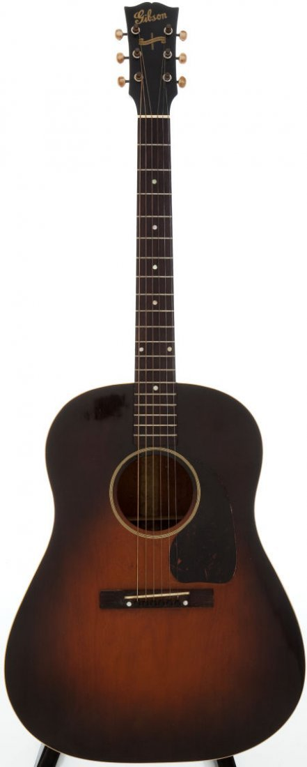 54017: 1945 Gibson J-45 Sunburst Acoustic Guitar, #2364