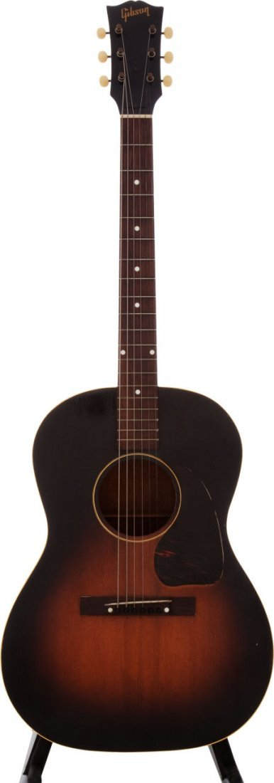 54021: 1951 Gibson LG-1 Sunburst Acoustic Guitar, #7678