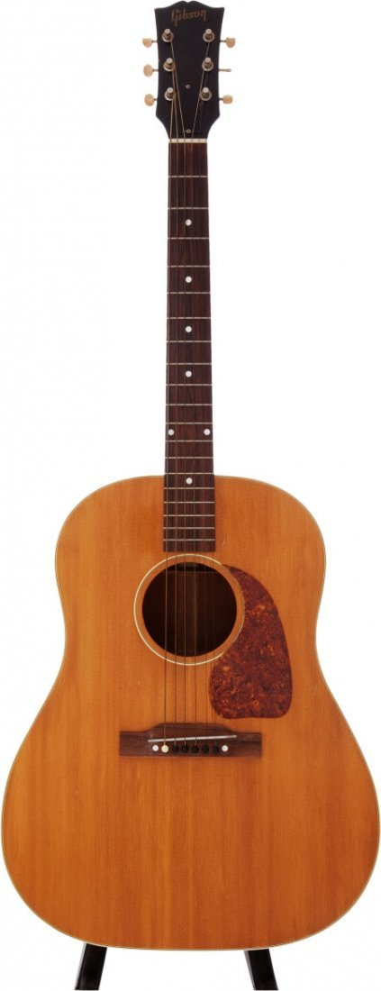 54024: 1952 Gibson J-50 Natural Acoustic Guitar, Serial