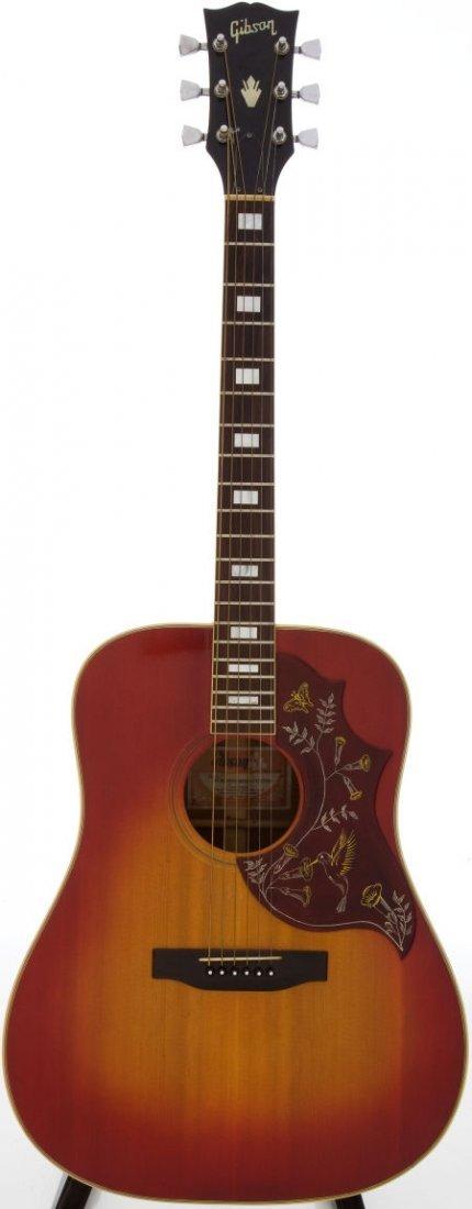 54055: 1970 Gibson Hummingbird Sunburst Acoustic Guitar
