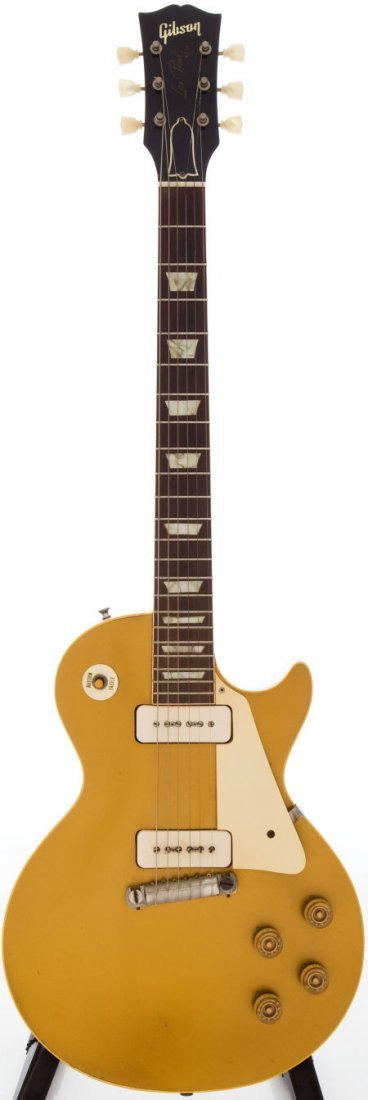54209: 1955 Gibson Les Paul Gold Solid Body Electric Gu
