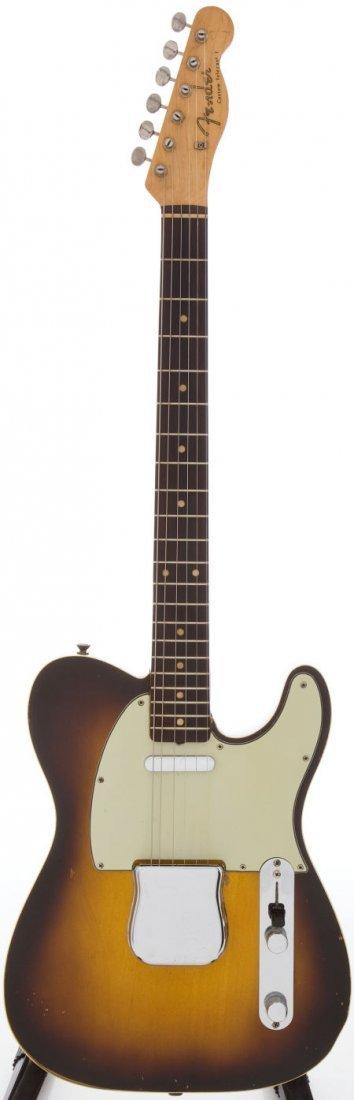 54216: 1960 Fender Telecaster Custom Sunburst Solid Bod