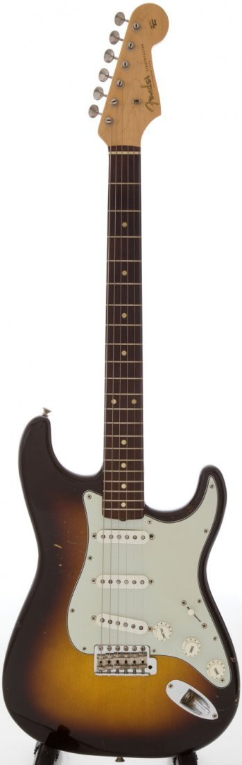 54217: 1960 Fender Stratocaster Sunburst Solid Body Ele