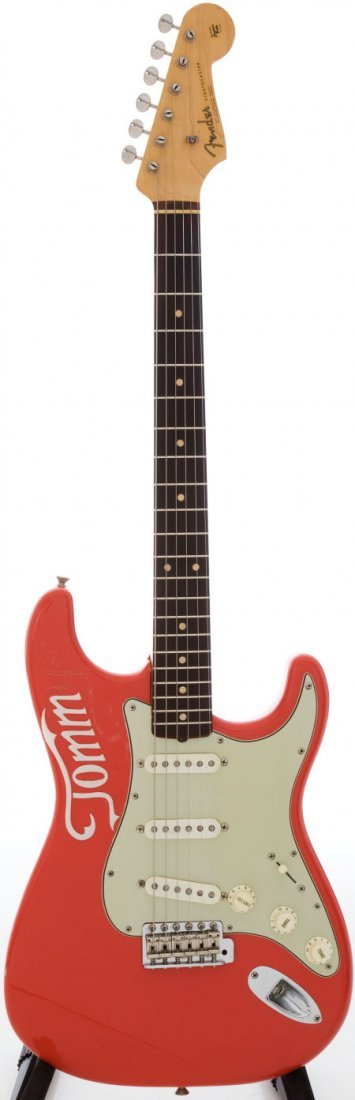 54222: 1962 Fender Stratocaster Fiesta Red Solid Body E