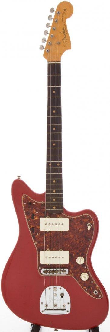 54223: 1963 Fender Jazzmaster Re-Finished Red Solid Bod