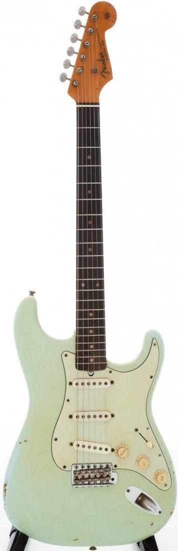 54224: 1963 Fender Stratocaster Sonic Blue Solid Body E