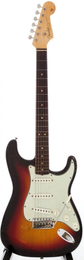 54228: 1964 Fender Stratocaster Sunburst Solid Body Ele