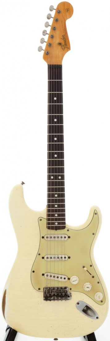 54231: 1965 Fender Stratocaster Re-Finished White Solid
