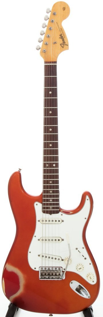 54232: 1966 Fender Stratocaster Candy Apple Red Solid B