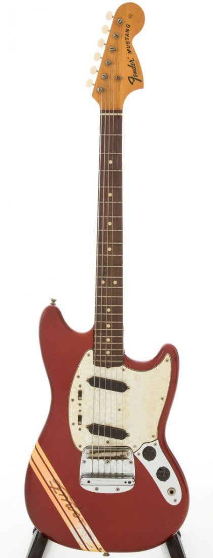 54240: 1969 Fender Competition Mustang Candy Apple Red
