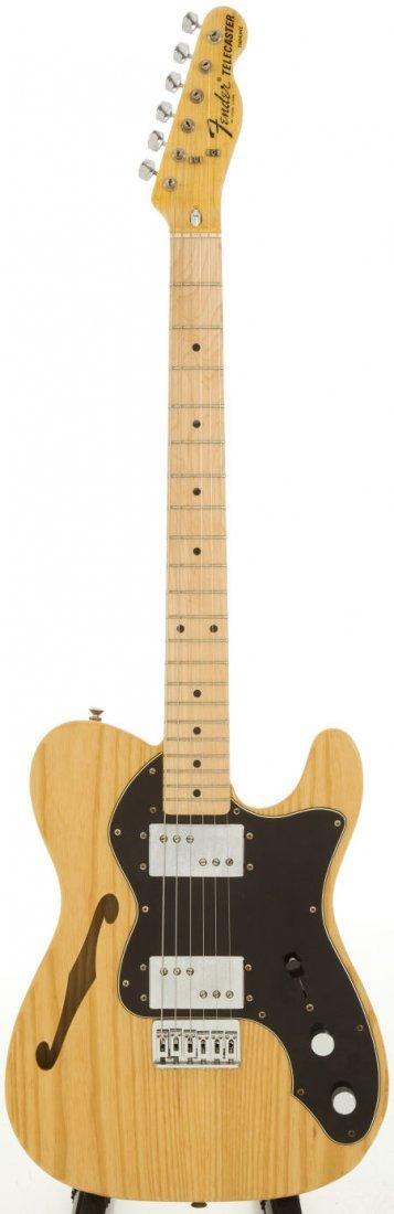 54241: 1975 Fender Telecaster Thinline Natural Solid Bo