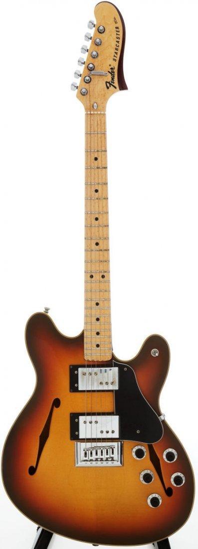 54242: 1976 Fender Starcaster Sunburst Solid Body Elect