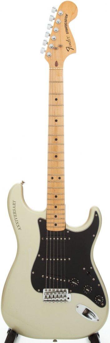 54244: 1979 Fender 25th Anniversary Stratocaster Silver