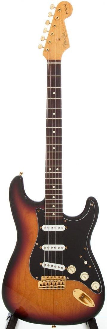 54248: 1989 Fender SRV Stratocaster Sunburst Solid Body