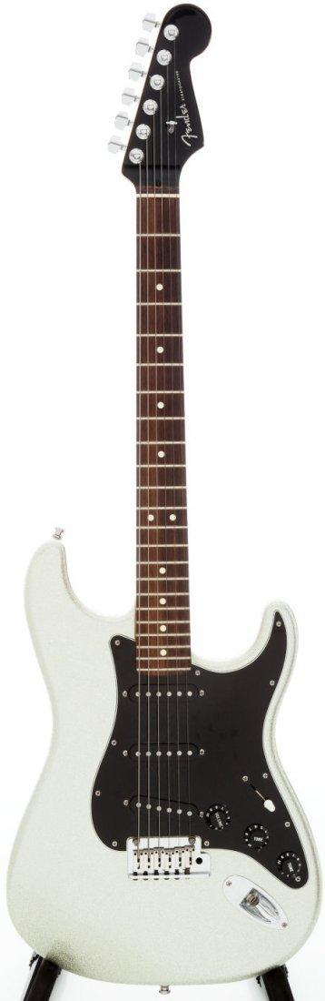 54254: 2001 Fender Stratocaster Silver Sparkle Solid Bo