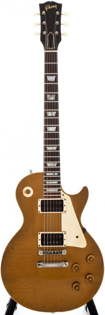 54258: 1957 Gibson Les Paul Standard Gold Top Solid Bod