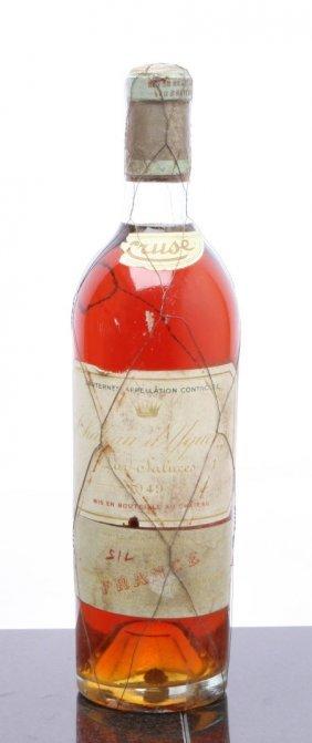 1: Chateau d'Yquem 1949  Sauternes bsl, ssos, outstandi