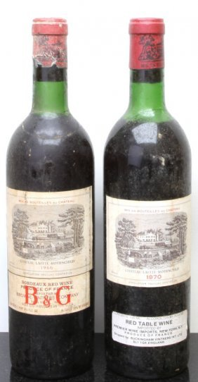 38: Chateau Lafite Rothschild Pauillac 1966 ts, bsl, tc