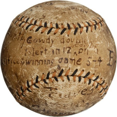 80931: 1914 World Series Game Three Baseball Used in La