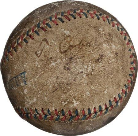 80933: 1918 Ty Cobb & George Sisler Signed Game Used Ba
