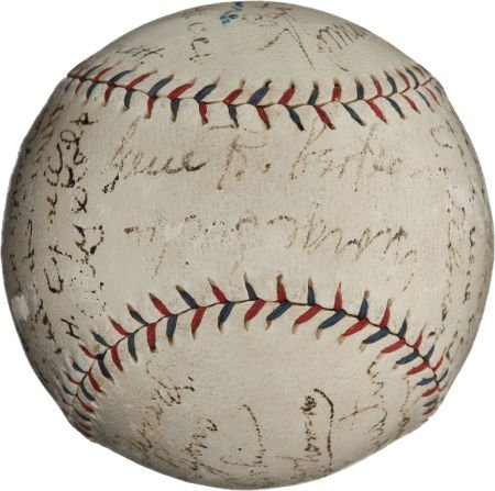 80935: 1922 St. Louis Browns Team Signed Baseball.