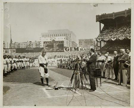 81030: 1939 Lou Gehrig Day News Photograph.